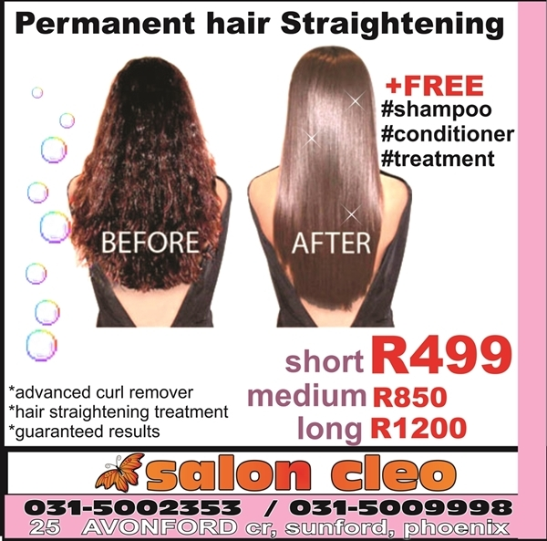 Permanent hair straightening treatment products services salon cleo - Salon straightening treatments ...